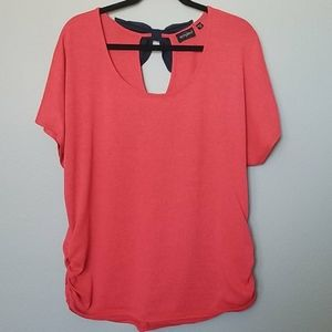 Tempted top with black bow size 1X